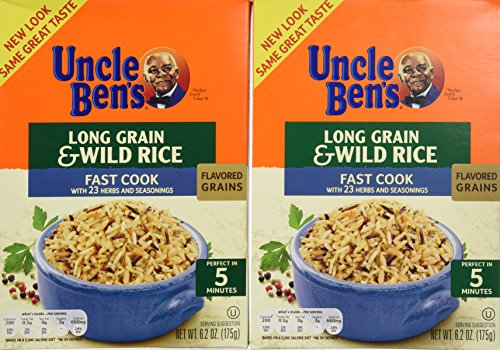 Uncle Ben's Long Grain and Wild Rice, Fast Cook Recipe, 6.2-Ounce Boxes (Pack of 12)