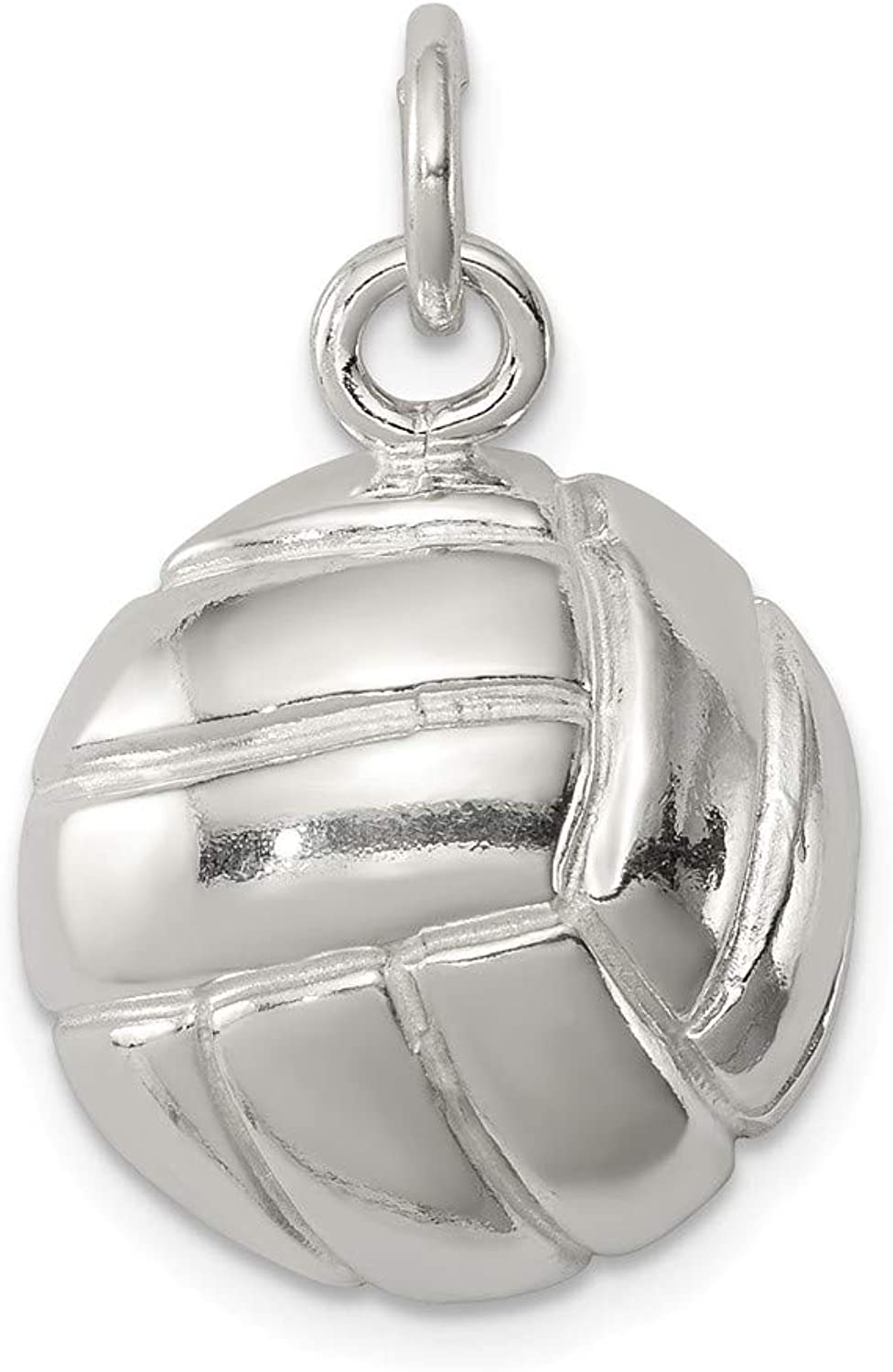 FB Jewels Solid Sterling Silver Volleyball Charm