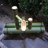 SGSG Kit de Fuente de bambú, Fuente de Agua de bambú con Bomba de Agua Característica del Agua Caño Decoración de jardín Zen Que Fluye al Aire Libre Interior, Longitud 30 cm