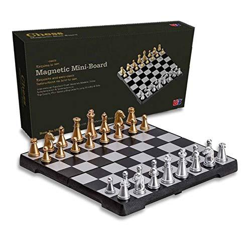 Conjunto De Ajedrez Magnético Torneo Torneo Viaje Portátil Chess Set New Chess Doblado Tablero Internacional Ajedrez Magnético Magnético Juego De Regalo Juego de ajedrez magnético (Color : A)