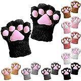 Tianhaik 1 unid mujeres niñas guantes de invierno guantes de pata de gato lindo...