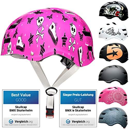 Skullcap® Skaterhelm Erwachsene Pink Pinky Punk - Fahrradhelm Damen ab 14 Jahre Größe 55-58 cm - Scoot and Ride Helmet Adult Pink - Skater Helm für BMX Inliner Fahrrad Skateboard
