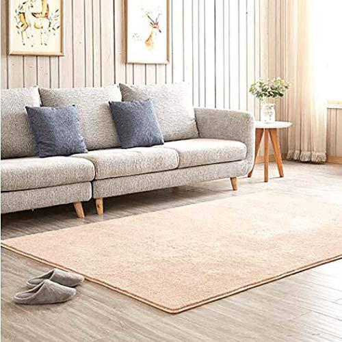 Ultra Soft Teppiche Einfache moderne Teppiche Sofa Couchtisch Bett der Maschine Waschen Haushalts Teppich für Wohnzimmer Schlafzimmer Bodenteppich,Beige,140x200cm