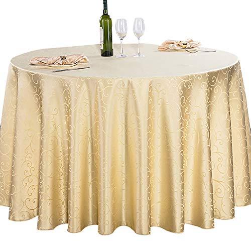 Tablecloth Color Sólido Redondo Mantel,Impermeable Telar Cubierta De Mesa De Tela De Poliéster para La Boda...