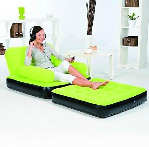 SCZLLPliage simple floqué canapé canapé lit paresseux ménage canapé lit gonflable , 1