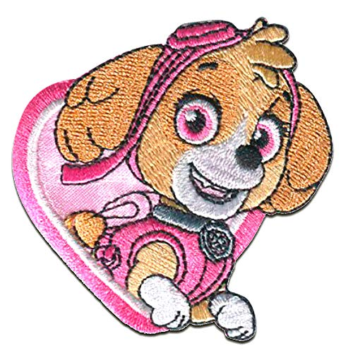 Parches - Patrulla Canina 'Skye' - rosa - 6,8x6,3cm - termoadhesivos bordados aplique para ropa