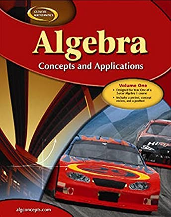 Algebra: Concepts and Applications, Volume 1, Student Edition (Glencoe Mathematics) by McGraw-Hill Education (2005-11-12)