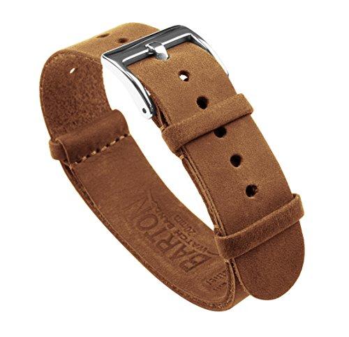 Barton Leather NATO - Correas de reloj de piel de 18 mm, 20 mm, 22 mm, 24 mm