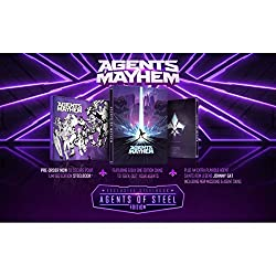 """Legal Action Pending DLC (x6 Skins to 'Geek-Out' Your Agents) Plus an extra playable agent Saints Row Legend """"Johnny Gat"""" - Including new missions & agent skins Agents of Mayhem Steelbook Pick your squad of 3 highly skilled and iconic characters from..."""