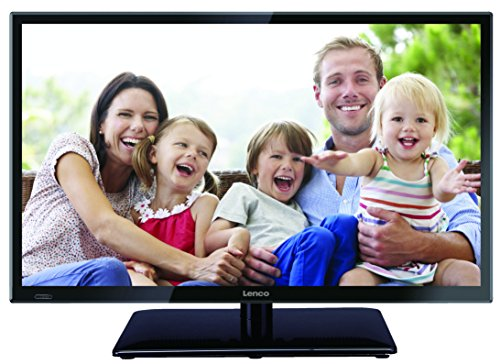 Lenco DVBT2 Fernseher LED-2422BK 24 Zoll (60 cm) mit 12 Volt Kfz-Adapter (LED Full HD, HDMI, USB, SCART, CI+), Schwarz