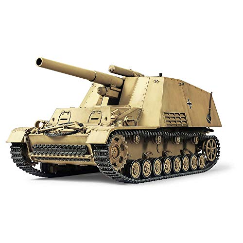 TAMIYA 35367 - 1:35 Deutsche Panzer-Haubitze Hummel (3)Sp.Prod., Modellbau, Plastik Bausatz, Basteln, Hobby, Kleben, Plastikbausatz