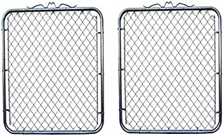 MTB Galvanized Chain Link Garden Fence Gate 48-inch Overall Height by 44 inch Frame Width (Fit a 48-inch Opening) 2 Pack Chain Link Fence Walk-Through Gate