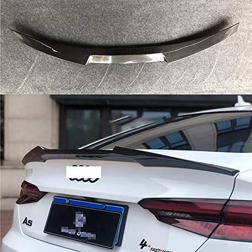 wowowa Car Styling Fibra de Carbono de Maletero Trasero Arranque Labio alerón de Techo para Audi A5 S5 RS5 Sportback 2017-2020