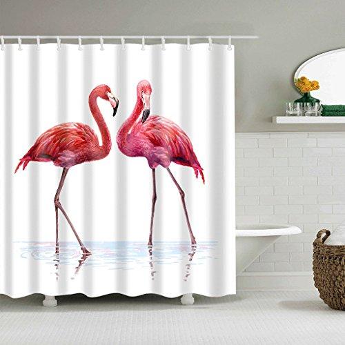 WTL Rideaux de douche Rideaux de douche Flamingo Pattern Waterproof Quick To Dry Matériaux respectueux de l'environnement Metal Hook Hanging Hole (taille : 180 * 180cm)