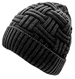 Loritta Winter Hat Warm Knitted Wool Thick Baggy Slouchy Beanie Skull Cap for Men Women Gifts,1 Pack Gray