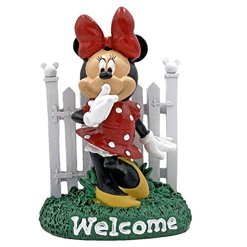 The Galway Company Disney Minnie Mouse Welcome Garden Statue, Hand Painted, 8 Inches Tall 5 Inches Wide, Official Licensed Disney Statue.