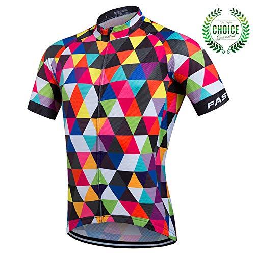 Maillot de ciclismo para hombres, camiseta de ciclismo de montaña, manga corta, transpirable, cómodo, de secado rápido, MTB ciclo de carretera bicicleta