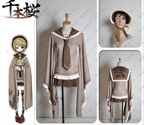 VOCALOID Vocaloid Hochwertige Cosplay Senbonzakura Rin-Stil Kimono-Stil Uniformen [150 ~ 155cm / beige Gr??e S (Japan-Import)
