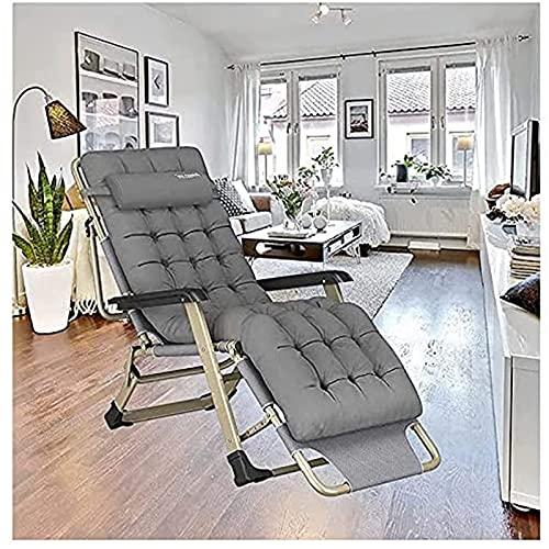 CHLDDHC Zero Gravity Folding Recliner Chair Lounger, Loungers Cotton Cushion, für Garten-Terrassen-Lounges im Freien