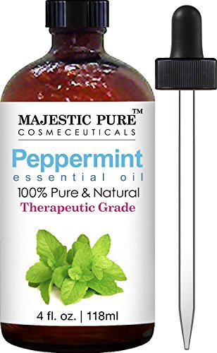 Majestic Pure Peppermint Essential Oil Pure and Natural Therapeutic Grade Peppermint Oil 4 fl oz
