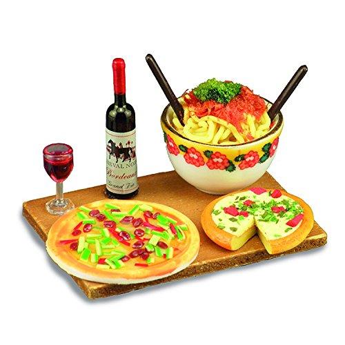 Miniatur Platte mit italienische essen von Reutter. Für 1:12 Puppenstuben.
