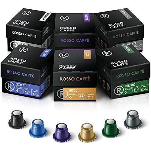 Rosso Coffee Capsules for Nespresso Original Machine - 60 Gourmet Espresso Pods, Compatible with Nespresso Original Line Machines (Variety 60)