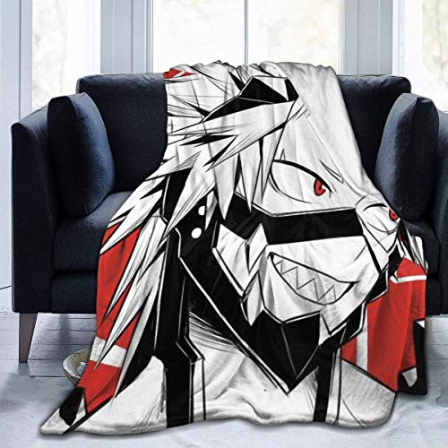 My Hero ACA-dEmia Boku No Hero ACA-dEmia Kirishima Eijiro Red Riot Manta de forro polar suave para sofá de cama de 50 pulgadas x40