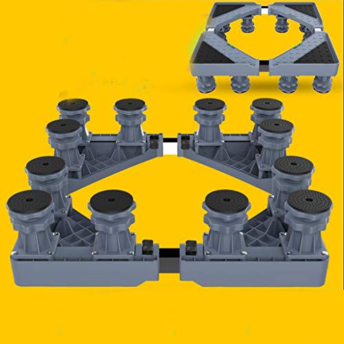 Lxrzls Gerätesockel Verstellbarer Gerätesockel Waschmaschine Trayhalterung for Kühlschrank Stoßdämpferhalterung (Color : Gray)