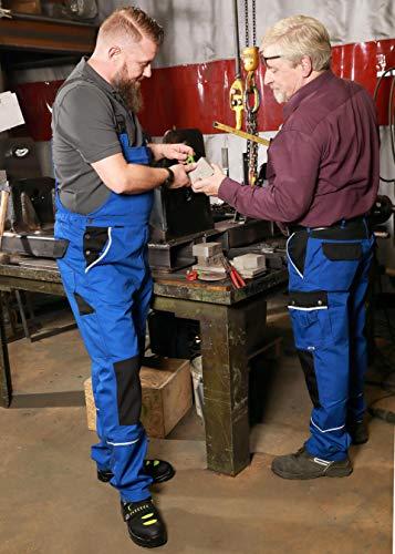 TMG® Herren Latzhose für Mechaniker/Klempner – Royalblau (W44 S / EU30) - 8