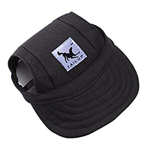 Pet Dog Hats for Small Size Dogs Cideros Visor Design Fashion Dogs Baseball Sun Hats Sport Cap with Ear Holes and Chin Strap