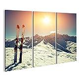 islandburner Bild Bilder auf Leinwand Ski Schnee Alpen