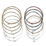 2 juegos de 6 cuerdas de cuerdas de guitarra acústica, (amarillo /...
