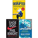 Disrupted Ludicrous Misadventures in the Tech Start-up Bubble, Shoe Dog A Memoir by the Creator of Nike, [Hardcover] The Upstarts 3 Books Collection Set