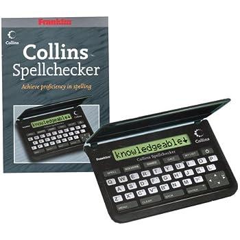 Lexibook- Dictionnaire Collins DL601GB correcteur d/'orthographe d/éfinitions 90 000 Mots Racines enti/èrement en Anglais synonymes Blanc