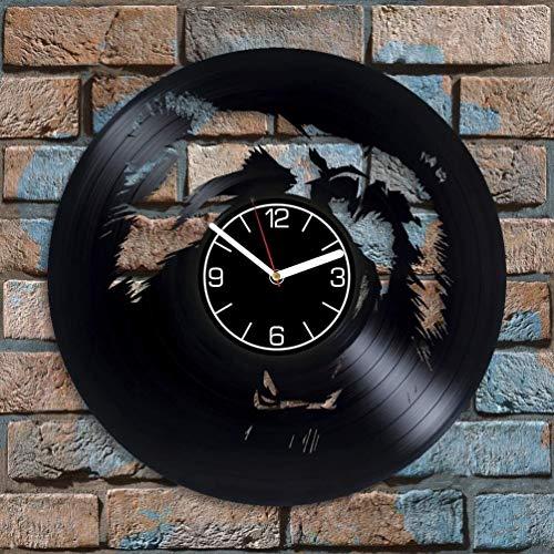 Reloj de pared de vinilo con diseño de oso de regalo de Navidad para hombre, decoración de animales de 30,48 cm, reloj de pared con diseño de oso de vinilo para la naturaleza, reloj de pared moderno