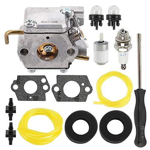 ATVATP 753-05133 Carburetor for Troy Bilt TB10CS TB20CS TB20DC TB65SS TB70FH TB70SS TB90BC Trimmer White Outdoor WH25CS WH80BC Trimmer 753-04333 & 791-180350 Air Filter