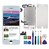BBSELL LCD Tactile écran Remplacement pour iPhone 7 4.7″ Blanc Numérique Cadre Complet Outil de Montage et Verre...