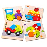 SKYFIELD Wooden Toddler Puzzles, Gift Toys for 1 2 3 Years Old Boys &Girls, Baby Educational Toys...