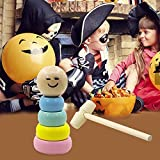 Lancei -Toys Immortal Daruma Little Wooden Man Magic Toy, 2019 Halloween Divertido Juguete mágico...