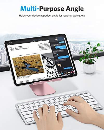 OMOTON Soporte Tablet Ajustable, Multi-ÁnguloBase Tablet de Aluminio para iPad Pro 10.5/9.7/12.9/10.2, iPad Mini 2/3/4/5, iPad Air/Air 2, Samsung Tab, Kindle y Otras Tabletas de 7-13 Pulgadas, Gris 6