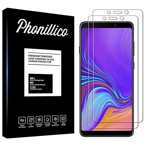 PHONILLICO [Pack de 2] Verre Trempe pour Samsung Galaxy A9 2018 SM-A920 - Film Protection 100% Intégral Ecran Verre Trempe Resistant [Lot de 2] Vitre Protecteur Anti Rayure Transparent
