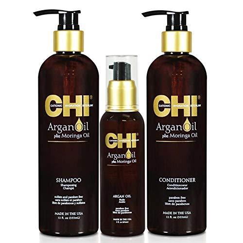 Chi - arganolie - shampoo 355 ml + 355 ml + serum 89 ml