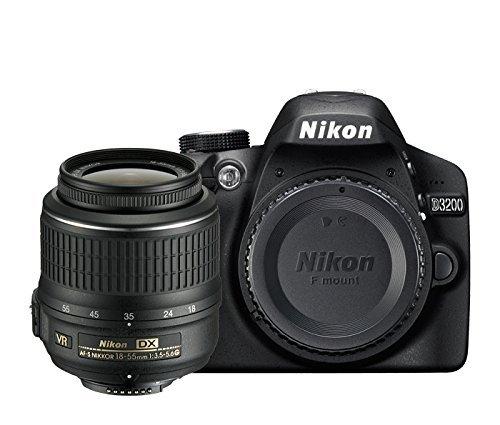 Nikon D3200 - Cámara réflex digital de 24 Mp (pantalla 2.9 pulgadas, estabilizador, vídeo Full HD), color negro - kit con objetivo AF-S DX 18-55mm f/5.6 VR II [importado] (Reacondicionado)