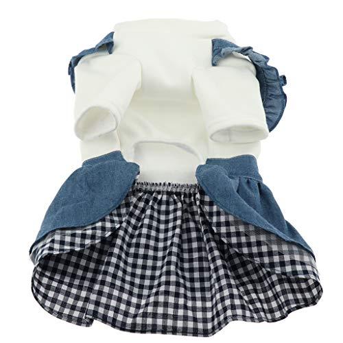 perfk Hondenjurk, jeans-jurk, prinsessenjurk, rok, kleding kostuum voor kleine honden, maat XL