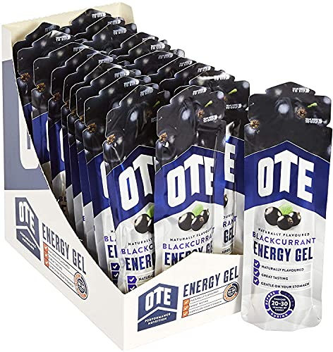 OTE Sports Energy Gels - Energy Gel for Running & Cycling - Hydration Supplement Pack with Carbohydrates and Electrolytes - Perfect for Marathons and Endurance Sport - 56g x 20 - (Blackcurrant)
