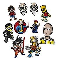 パッチ、Tシャツのジーンズ、ジャケット、バックパック、靴の装飾や修理に使用されます。漫画スーパーマンアニメキャラクター10個