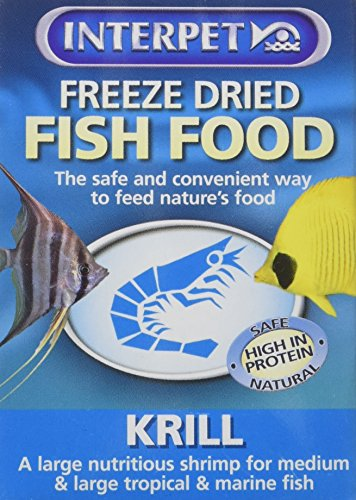 Interpet 0441 gefriergetrocknet Fischfutter, Krill, 5g