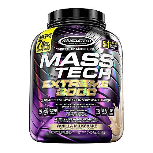 Mass Gainer Protein Powder | MuscleTech Mass-Tech Extreme 2000 | Whey...