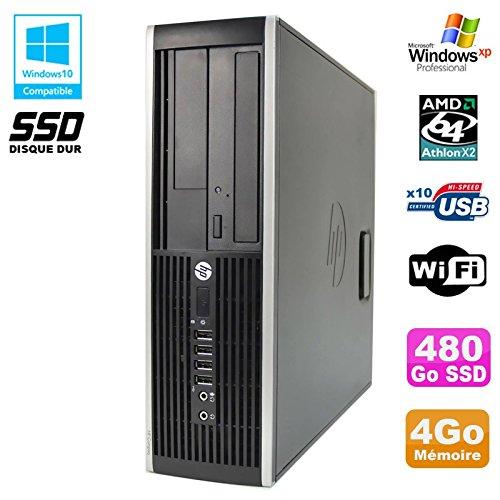 HP PC Compaq 6005 Pro SFF AMD 3GHz 4GB DDR3 480Go SSD Grabador WiFi Windows XP