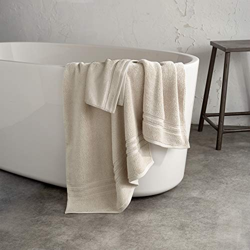 DKNY Ludlow 100% Cotton Hand Towel, 16 x 28, Linen